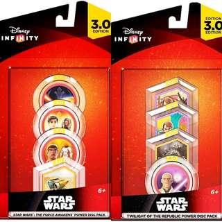 Disney Infinity Star Wars The Force Awakens, Twilight Of The Republic Power Disc Pack MISB