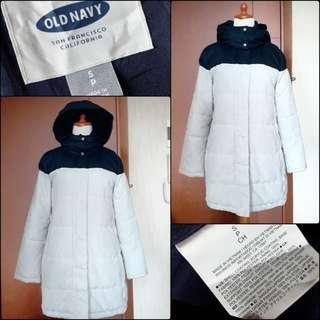 Old navy winter down jacket / winter coat / long coat / coat panjang / winter jacket / jaket winter / jaket tebal / coat tebal / outer / spring coat / autumn coat / jaket gunung / jaket musim dingin
