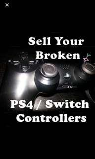 Buying Broken Joycon PS4 Controllers