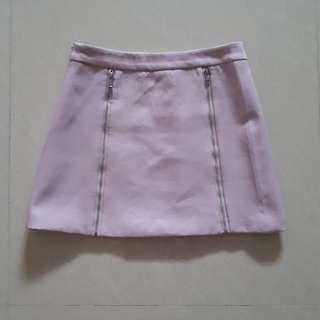 Dusty Pink Skirt with zips design