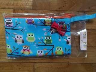 Owl prints fabric pouch/purse/pencil case