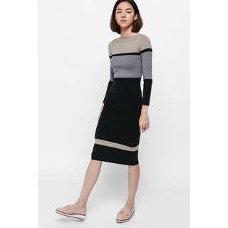 Tadia Colourblock Knit Midi Dress