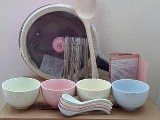 米其林繽紛饗宴組 馬卡龍色浪漫風格 平底鍋 碗 筷 餐具