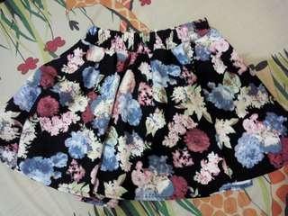 Rok celana floral