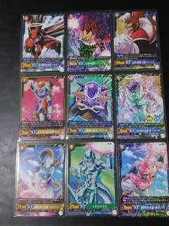 Dragonball IC Carddass 9 Card Villain Set