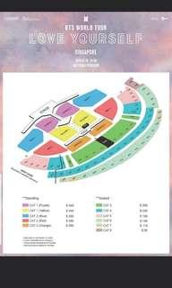 WTB bts LY concert SEATED tickets LF