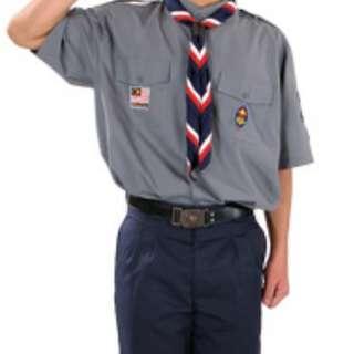 Male Pengakap Uniform (top+bottom)