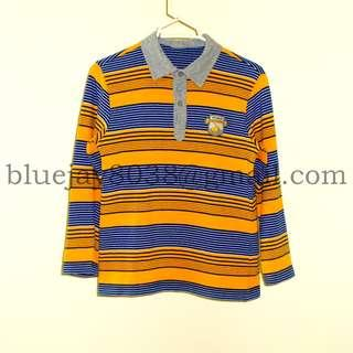Boys Polo or Rugby Shirt Long Sleeve PCORA ITALY STYLE 4 years to 7 years 100 percent Cotton -- 00289