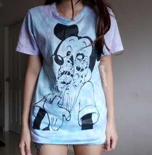 Distorted Mickey Mouse Tie dye tee