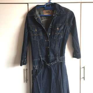 Denim dress 3/4 sleeves by COWDEN #jan55