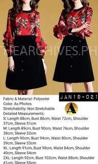 Floral Ruffle Sleeve Dress (JAN19-021)