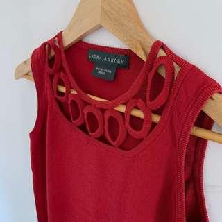 Laura Ashley red top