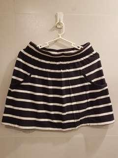 Cotton On Stripe Navy Blue Garter Skirt