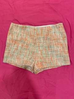 Orange tweed shorts