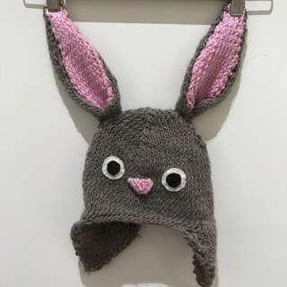 Hand Knitted Rabbit Beanie