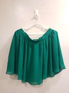 Forever 21 Green Chiffon Skirt F21