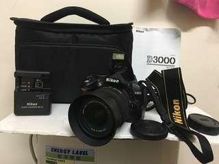 Nikon D3000 DSLR complete set !!!