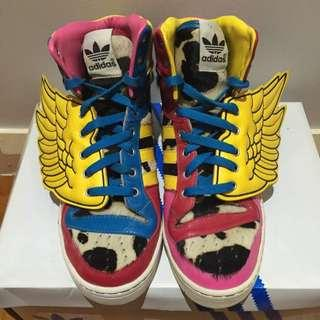 RARE Authentic Adidas Originals X Jeremy Scott JS Collage Wings X 2NE1 Sneakers - U.S 9.5