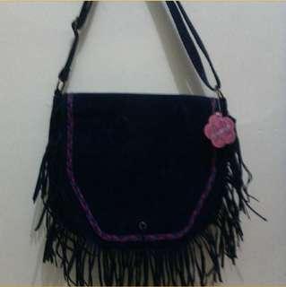 Spyderbilt sling bag deep navy fringe