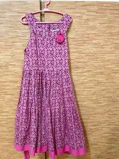 Sweet pink floral dress