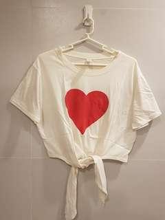 Heart Tie Tshirt