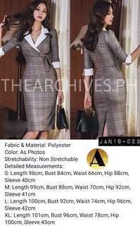 Plaid longsleeve dress (JAN19-023)