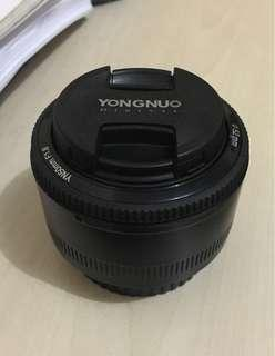 Lensa fix yongnuo f1.8 50mm