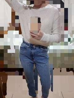 🚚 🇯🇵UNIQLO白色針織毛衣
