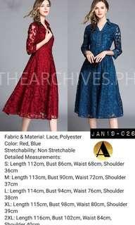 Longsleeve lace dress (JAN19-026)