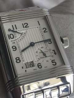 Jaeger LeCoultre JLC Reverso 8 Days 240.8.15 Grande Date Steel Bracelet