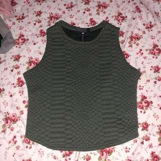 cotton on army top