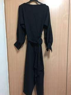 brand new in bag miss mannequin b neck irregular hem dress in black