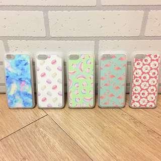 :::OH YEAH!:::『免運優惠中』泰國設計手機殼 iPhone6.6S可用止滑邊框 渲染馬卡龍西瓜火鶴花卉桃紅色