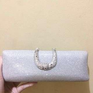 clutch bag party silver