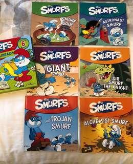 Smurfs Library 6 English books 藍精靈