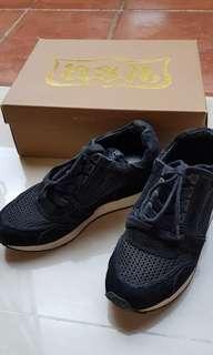 Authentic Ash Black Mesh Low Wedge Sneakers Sz 36