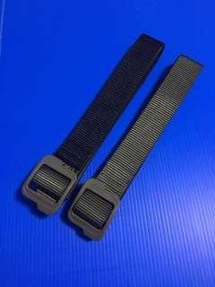 Double layer tactical nylon belt