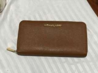 Michael Kors Jet Set Travel Saffiano Leather Continental Wallet