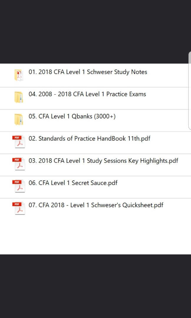 2018 CFA Level 1 Full Package