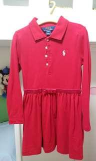 just like new! Ralph Lauren polo dress 新年裙拜年面試聖誕紅裙小一面試
