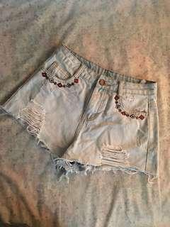 Highwaist Ripped Shorts