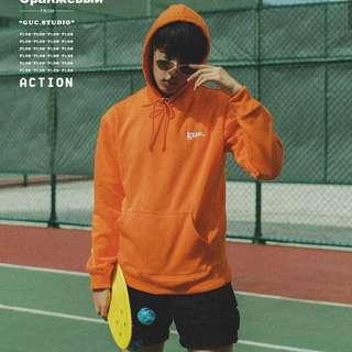 Sweater hoodie orange GUC street wear
