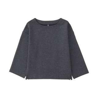 🚚 UNIQLO Women's Milano Ribbed Wide Sleeve T