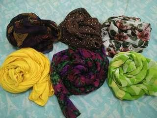 Take all 6 Collorfull Pashmina