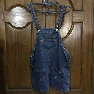 SALE !! Overall jeans jumpsuit short