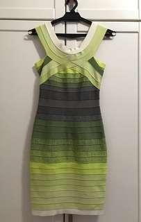 Herve Leger Bandeau Ombré Green Dress (Size S)
