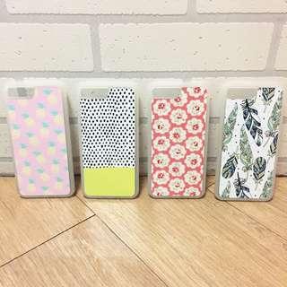 :::OH YEAH!:::『免運優惠中』泰國設計手機殼 iPhone7.8Plus共用殼止滑邊框 鳳梨點點普普風花卉