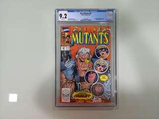 New Mutants #87, CGC 9.2, 1st Appearance Cable!