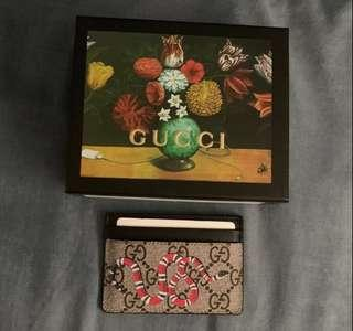 Gucci red snake card holder