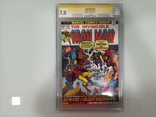 Ironman #55, Signature Series Jim Starlin, CGC 7.0
